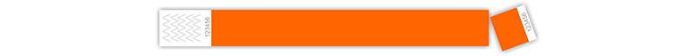 tyvek karszalag - tőszelvényes, narancssárga