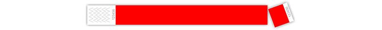 tyvek karszalag - tőszelvényes, piros
