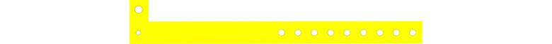 plastic karszalag - citromsárga