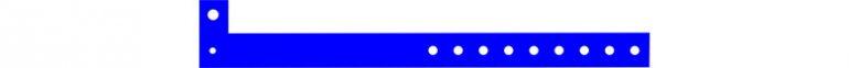 plastic karszalag - kék
