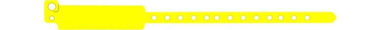 széles vinyl karszalag - citromsárga