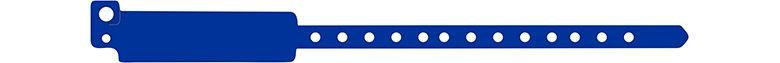 széles vinyl karszalag - kék