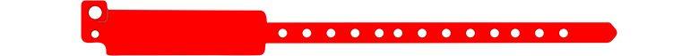 széles vinyl karszalag - piros