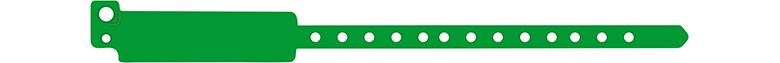 széles vinyl karszalag - zöld